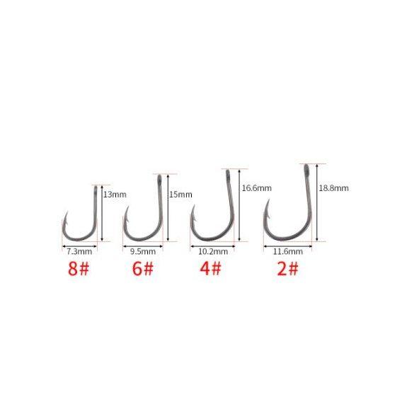 HIRISI wide gape pontyozó horog 2-es (50db-os)