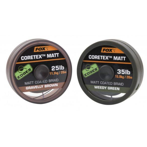 FOX CORETEX MATT GRAV.BROWN bevonatos előkezsinór 20M 35LB