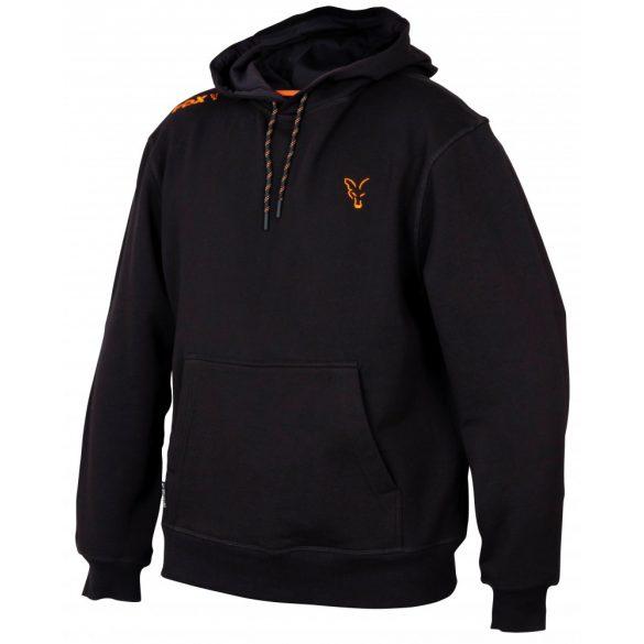 FOX Collection Orange & Black kapucnis pulóver