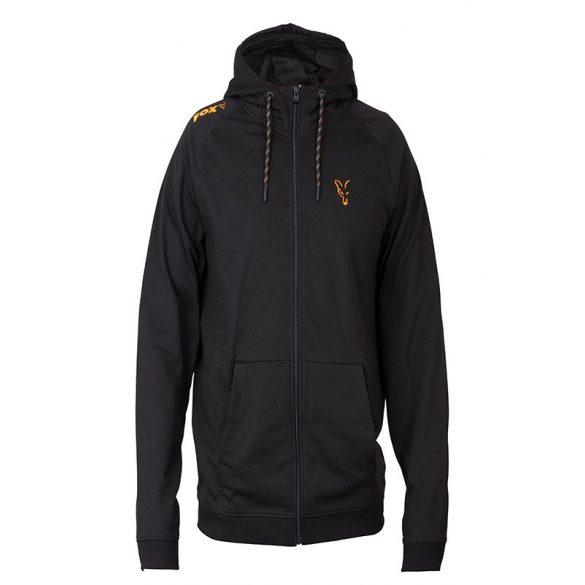 FOX Collection Orange & Black LW kapucnis pulóver
