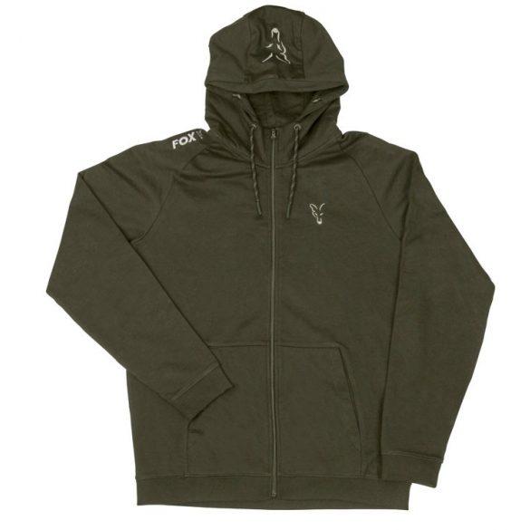 FOX Collection Green & Silver LW kapucnis pulóver