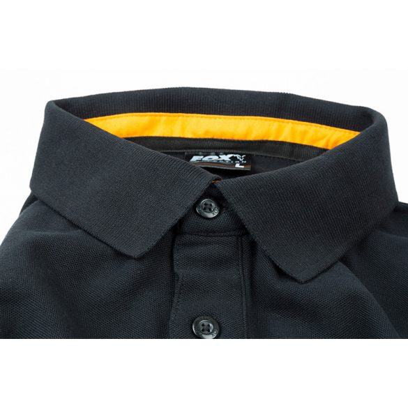 Fox Collection Orange & Black Polo galléros póló