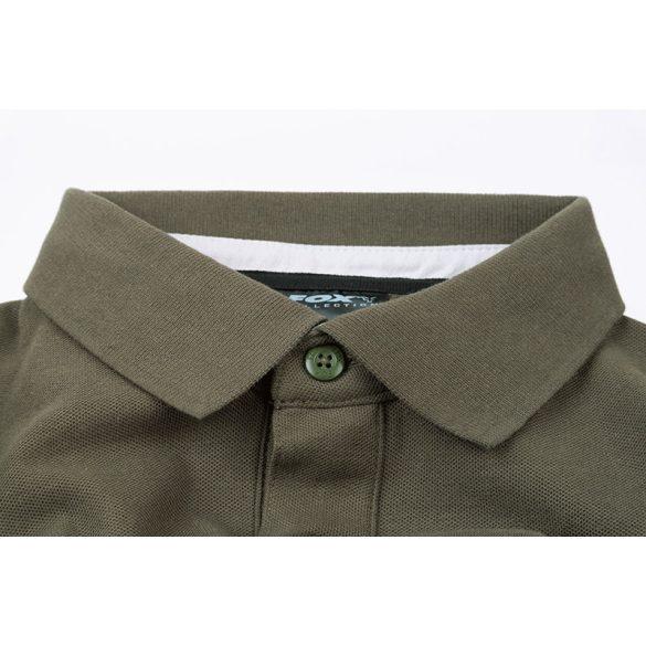Fox Collection Green & Silver Polo galléros póló
