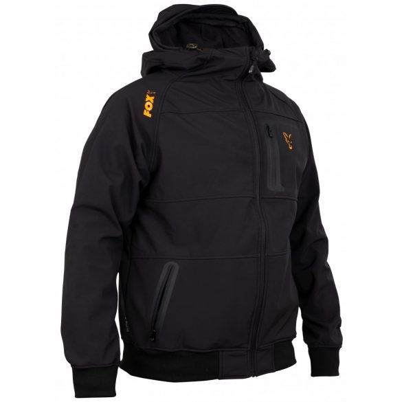 FOX Collection Orange & Black Shell vastag pulóver