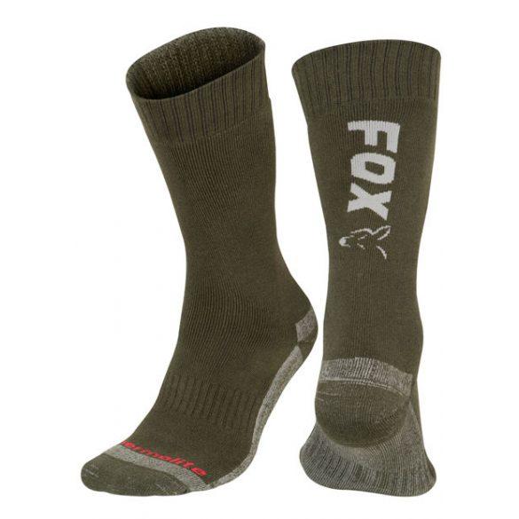 FOX Green/Silver Thermo Sock - thermo zokni (40-43)