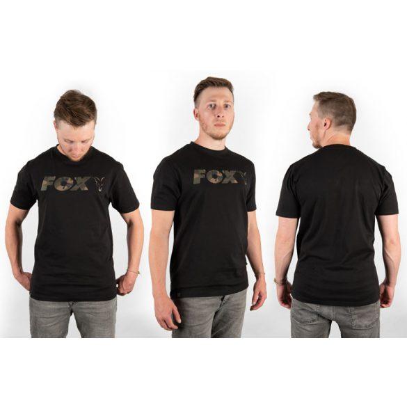 FOX Black Camo Print póló