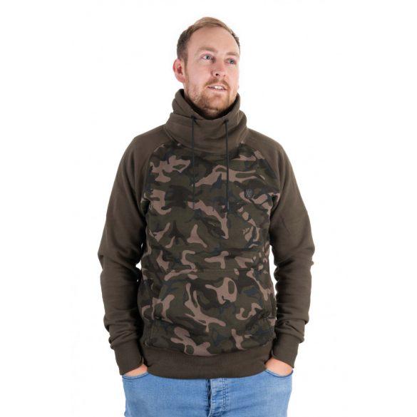 FOX Khaki Camo High Neck magas nyakú pulóver