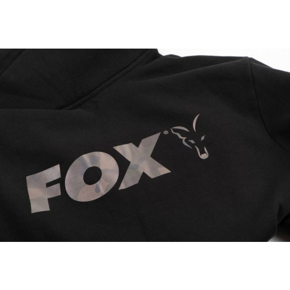 FOX Black Camo Print High Neck magas nyakú pulóver