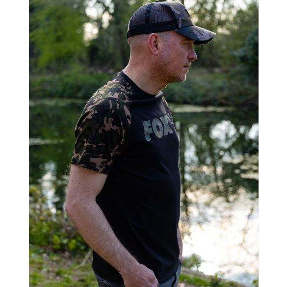 FOX Raglan T-Shirt Black/Camo