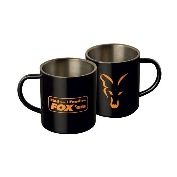 FOX Stainless Steel Mug - rozsdamentes bögre