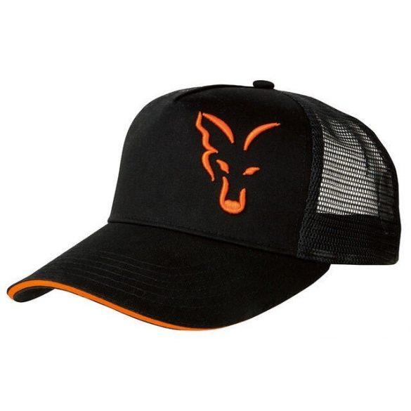 FOX Black&Orange Trucker Baseball sapka
