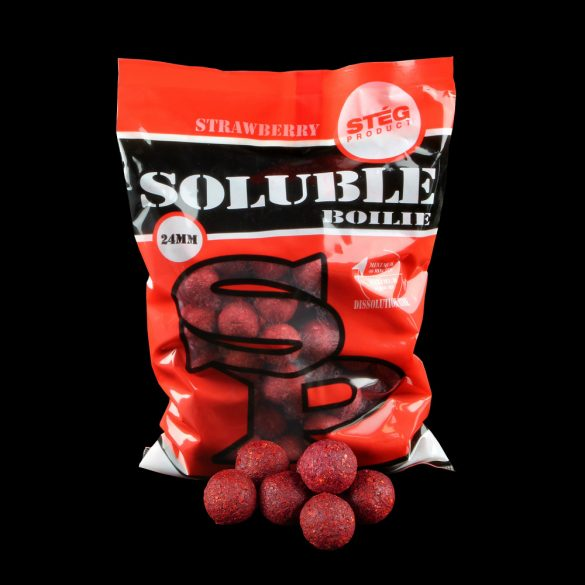 Stég Product Soluble Bojli 24 mm STRAWBERRY 1kg