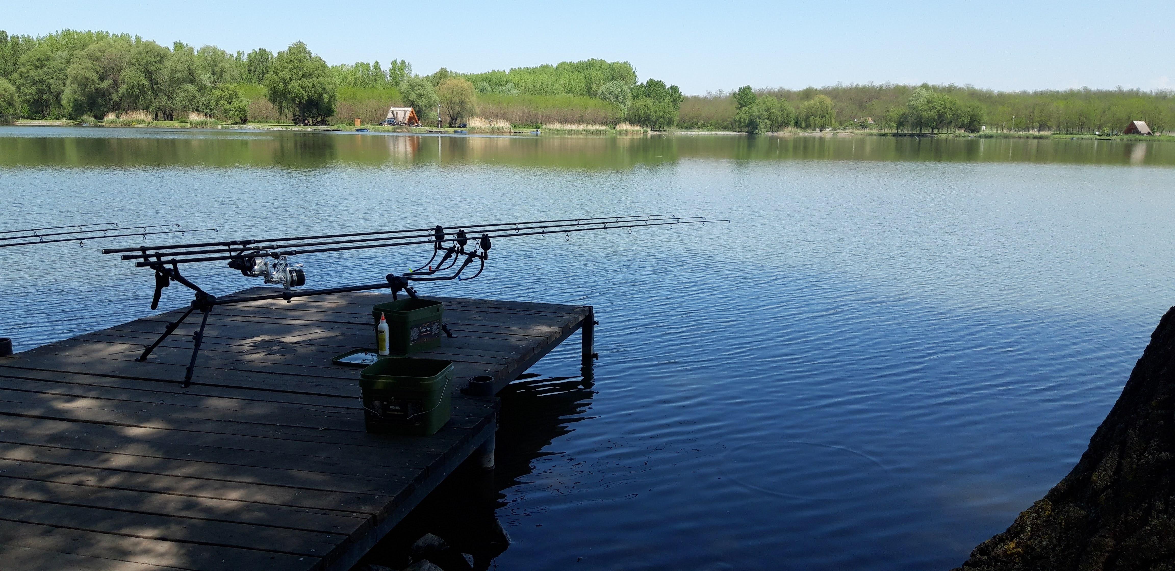 Stégünk a horgászhelynél